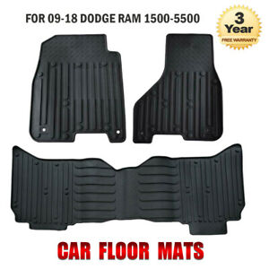 Fit For 09 18 Dodge Ram 1500 Quad Cab Crew Cab Rubber Slush Car Floor Mats Oem