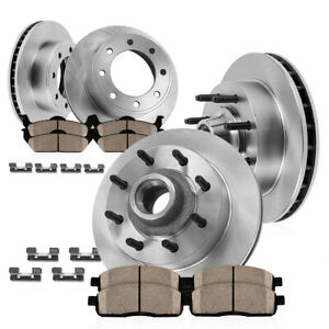 For Ford E 150 E 250 E 350 Front And Rear Brake Rotors And Ceramic Pads