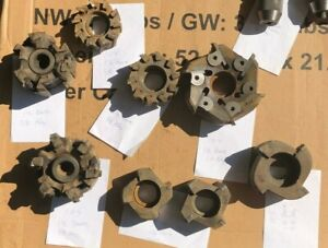 8 Lot Carbide Tooth Face Mills 1 5 Bore And 5 8 Key Ingersoll And Others
