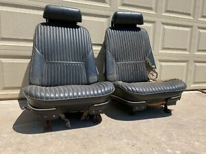 1968 1972 Gm Chevelle Strato Bucket Seats With Tracks And Headrests Nice