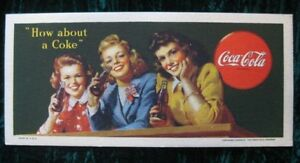 1944 Coca Cola Blotter Ink Card Very Sharp Colors Advertising Vintage