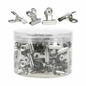 150 Bulldog Clips Stainless Steel Hinge Binder For Document File Silver 0 9x0 9