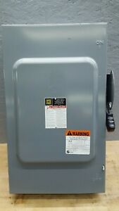 Square D Hu364 200 Amp 600 Volt Non fusible 3 Phase Disconnect Safety Switch