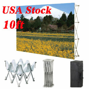 10ft Pop Up Tension Fabric Display Backdrop Trade Show Backwall Booth graphic