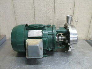 G h Model Ghh 10 Stainless Steel Centrifugal Pump Food Grade Sanitary 3 Hp 3 Ph