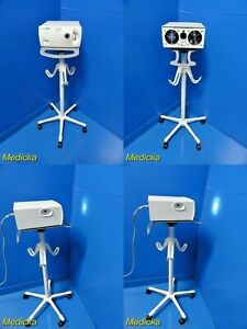 Welch Allyn 90123 Cl300surgical Light Source Illuminator W Carrying Stand 18434