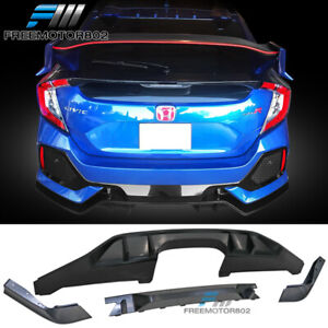 Fits 2017 2020 Honda Civic Hatchback Type R Style Pp Rear Bumper Lip