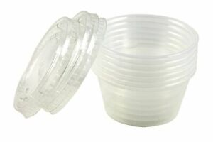 Items 4u Disposable Dressing To Go Containers Plastic 2 Oz 24 Count