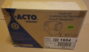 X acto Model 41 Commercial Electric Pencil Sharpener Beige Euro Plug 41