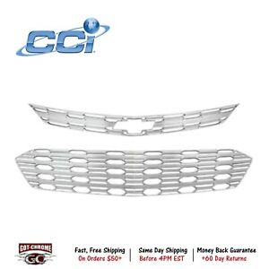 Iwcgi155 Coast To Coast International Grille Insert Overlay Chrome Plated Chevy
