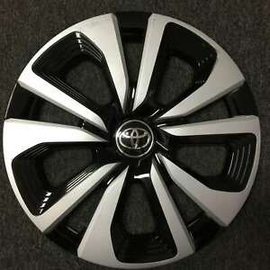 2017 2018 Toyota Prius Prime 15 Oem Silver And Black Hubcap Wheelcover 42602 47