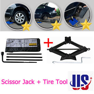 2t Scissor Jack Spare Tire Tool Kit Replacement Tools For Chevrolet Gmc Car Van