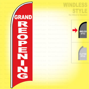 Grand Re opening Windless Swooper Flag 2 5x11 5 Ft Feather Banner Sign Rb