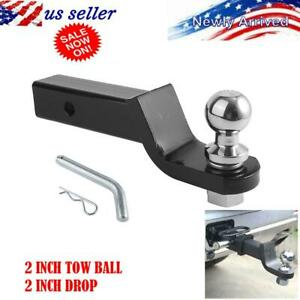 5000 Lb Trailer Hitch Ball Mount With 2 Inch Trailer Ball Hitch Pin Kits Black