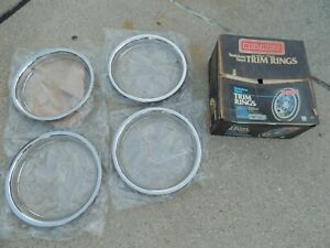 Nos Beauty Rings Buick Chevy Cadillac Dodge Ford Pontiac 15 Inch