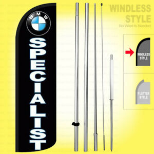 Bmw Specialist Windless Swooper Flag Kit 15 Feather Auto Repair Sign Kq h