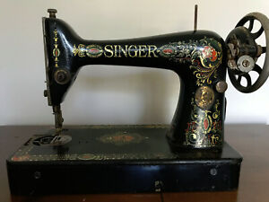 Antique Singer 66 Red Eye Treadle Sewing Machine Head For Parts Restore Local Pu