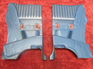 1966 Ford Thunderbird Blue Rear Interior Side Sections Drivers And Passengers
