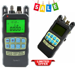 Fiber Optic Cable Tester Visual Fault Locator Portable Optical Power Meter