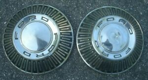 1965 1966 1967 Ford Dog Dish Hubcaps Lot Of 2 10 5 10 1 2 Galaxie 500