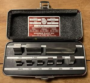 Starrett Webber Rs 9a1 Steel Gage Block Set inch 9 Pieces Grade 2 W Case