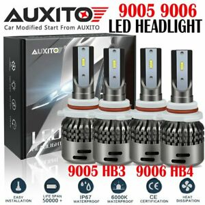 4x 9005 9006 18000lm Combo 6500k White Led Car Headlamp Kit High Low Beam C7 A