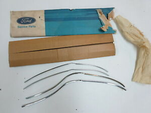 Nos 1969 1970 Ford Galaxie Four Door Edge Guards Protector Trim Moldings Oem Kit