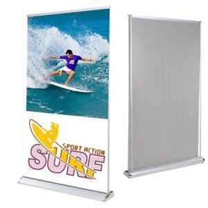 47 x78 Rear Projection Projector Screen Banner Stand Roll Up Trade Show Display