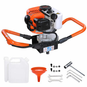 52cc 2 2hp Earth Auger Powerhead 1 Or 2 Men Gas Powered Post Hole Digger Machine