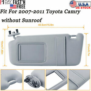 Auto Car Sun Visor Left Driver Side For 2007 2011 Toyota Camry Without Sunroof