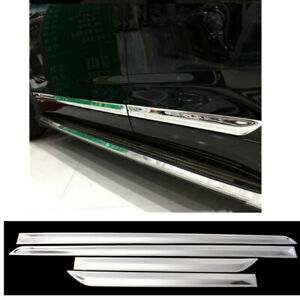 For 08 13 Toyota Highlander Chrome Side Door Molding Trim Protector Covers