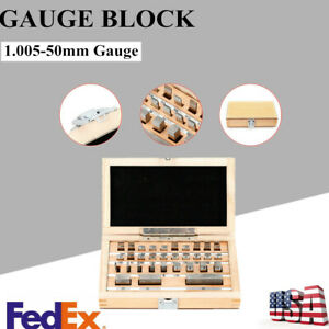 Steel Metric Gage Block 32pcs set Grade 0 Slip Jo Blocks Set Measure Block Gauge