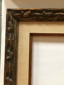 Antique Mid Century Carved Wood Picture Frame 8 X 10