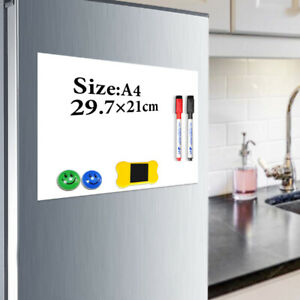 A4 Fridge Sticker Magnet Soft Whiteboard Magnetic Board Dry Erase Drawing Record