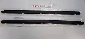 Toyota Tundra Regular Cab Door Belt Moulding 2pc Set Weatherstrip Genuine Oem Oe