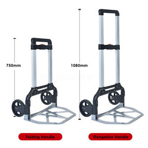 330 Lbs Folding Dolly Portable Cart Push Truck Hand Collapsible Trolley Luggage