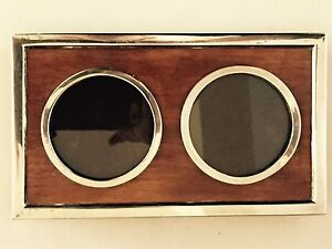 Antique Rare Wm Comyns Victorian Sterling Wood Double Picture Frame
