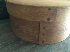 Antique Primitive Wood Pantry Box With Cover