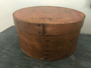 Antique Primitive Wood Pantry Box W Cover 9