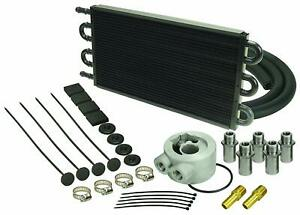 Derale 15502 Engine Oil Cooler Kit Extends Engine Life 6 Pass Tube Style Cooler