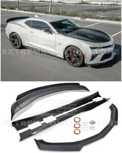 For 16 up Camaro All Facelift 1le Front Lip Splitter Side Skirts Rear Spoiler