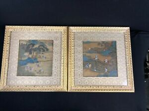 Beautiful Antique Chinese Watercolor Paintings