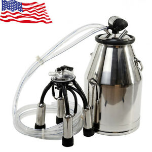 Hot Safety Stainless Steel Cow Milker Goats Milking Machine Vacuum Pump 25l Best