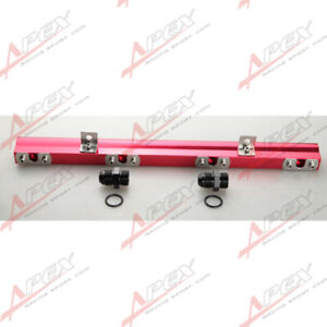 Aluminum High Flow Turbo Fuel Injector Rail Kit For Volvo 240 740 940 Red Us