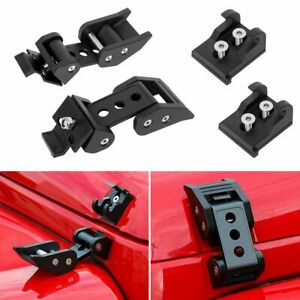 For 07 18 Jeep Wrangler Jk Unlimited Accessories Hood Latch Locking Catch Buckle