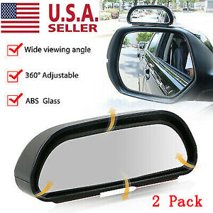 2x Universal Blind Spot Mirror Wide Angle Rear View Car Side Mirror Adjustable