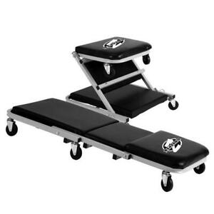 Pro lift Creeper Seat 36 In Cushioned Water Resistant 6 Casters 300 Lb Capacity