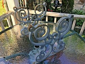 Vintage Cast Iron Ornate Garden Bench Legs Great Repurpose