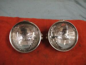 1960 67 Corvette T3 Headlights High Beams W rings And Cups