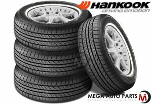 4 Hankook Optimo H724 P185 75r14 89s White Wall Wsw All Season Touring Tires